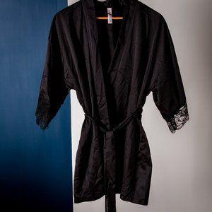 Satiny Black Robe